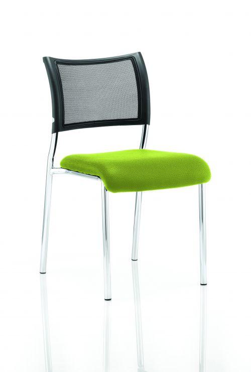 Brunswick No Arm Bespoke Colour Seat Chrome Frame Myrrh Green