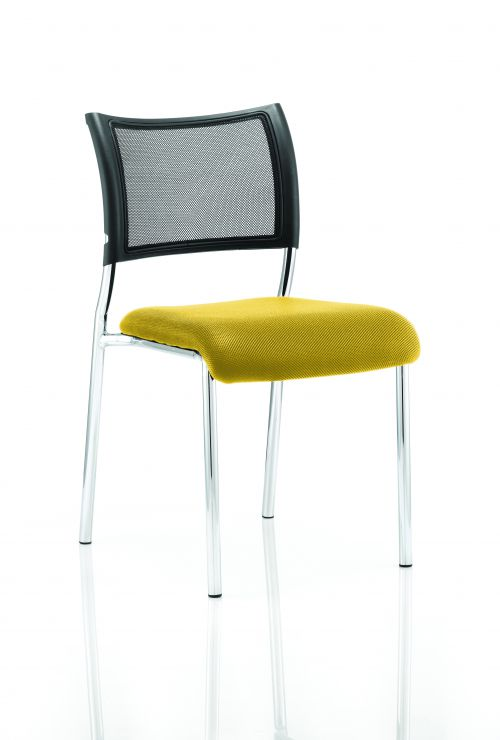 Brunswick No Arm Bespoke Colour Seat Chrome Frame Yellow