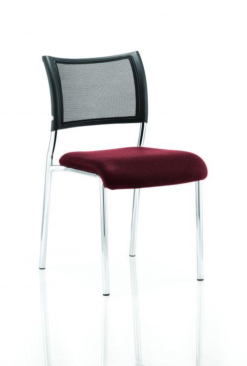 Brunswick No Arm Bespoke Colour Seat Chrome Frame Ginseng Chilli