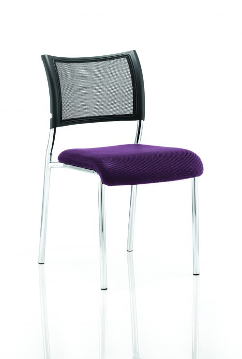 Brunswick No Arm Bespoke Colour Seat Chrome Frame Purple