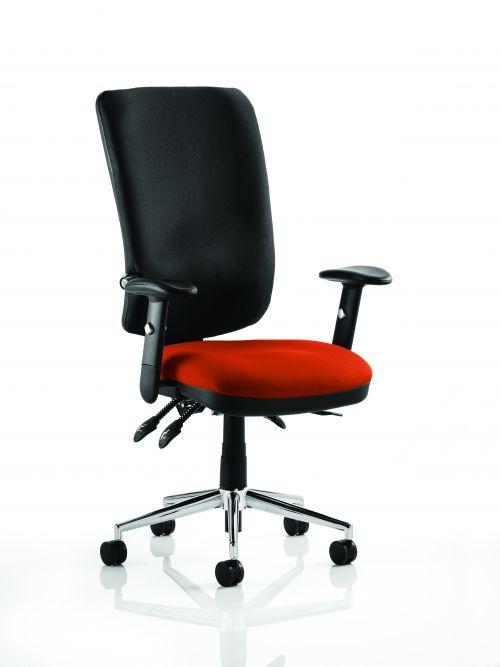 Chiro High Back Bespoke Colour Seat Orange