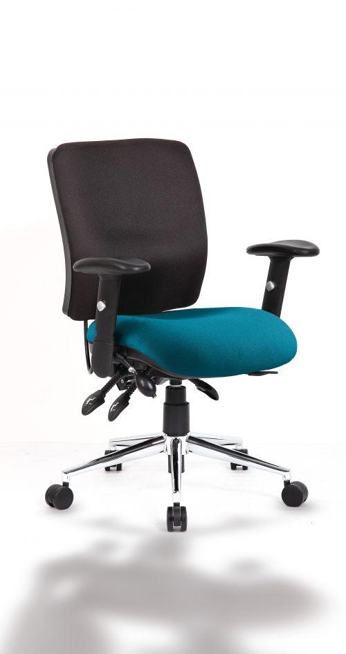 Chiro Medium Back Bespoke Colour Seat Teal