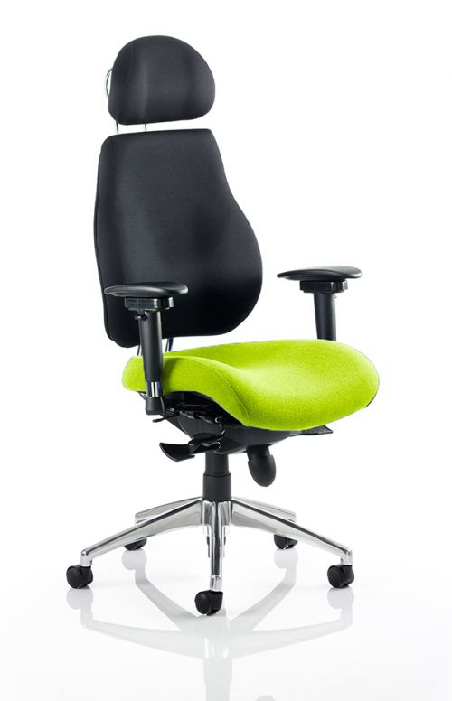Chiro Plus Ultimate With Headrest Bespoke Colour Seat Lime
