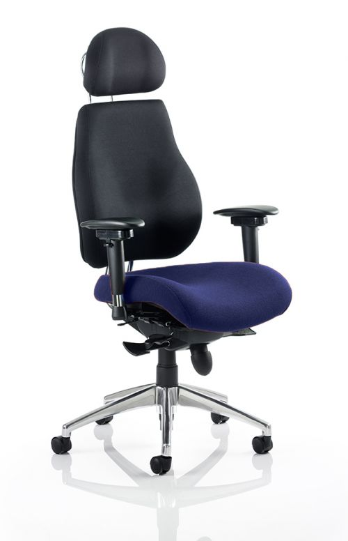 Chiro Plus Ultimate With Headrest Bespoke Colour Seat Admiral Blue