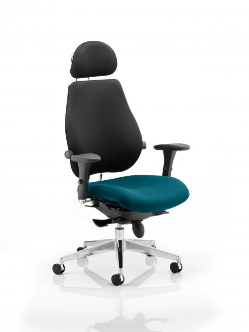 Chiro Plus Ultimate With Headrest Bespoke Colour Seat Teal