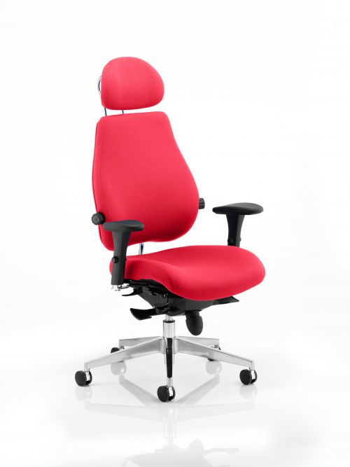Chiro Plus Ultimate With Headrest Bespoke Colour Post Box Red