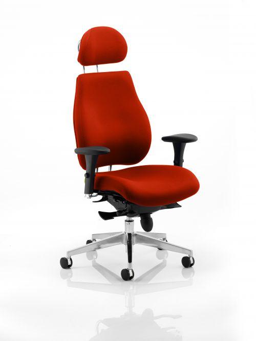 Chiro Plus Ultimate With Headrest Bespoke Colour Orange