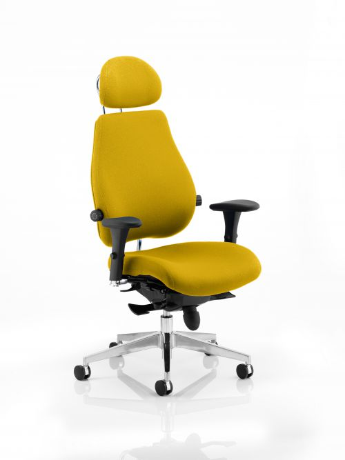Chiro Plus Ultimate With Headrest Bespoke Colour Yellow