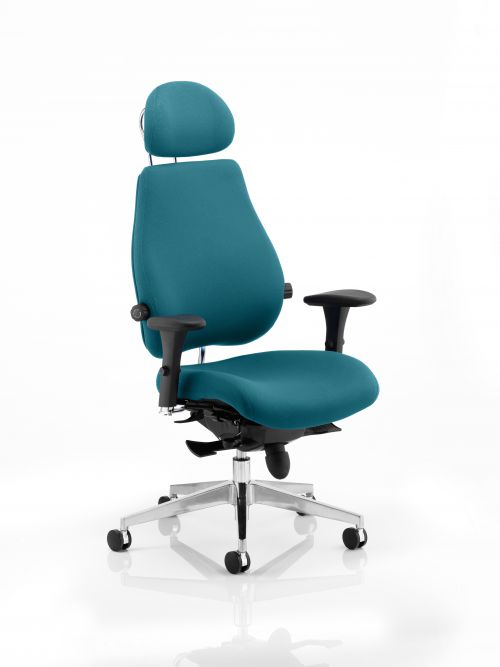 Chiro Plus Ultimate With Headrest Bespoke Colour Teal