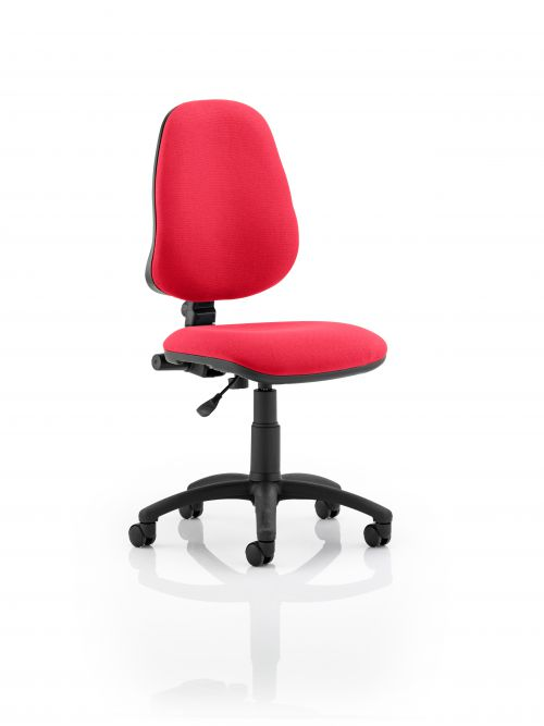 Eclipse I Lever Task Operator Chair Bespoke Colour Post Box Red
