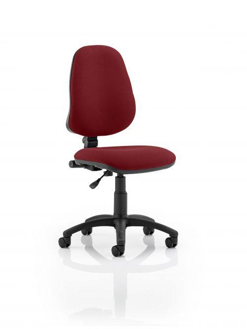 Eclipse I Lever Task Operator Chair Bespoke Colour Maroon