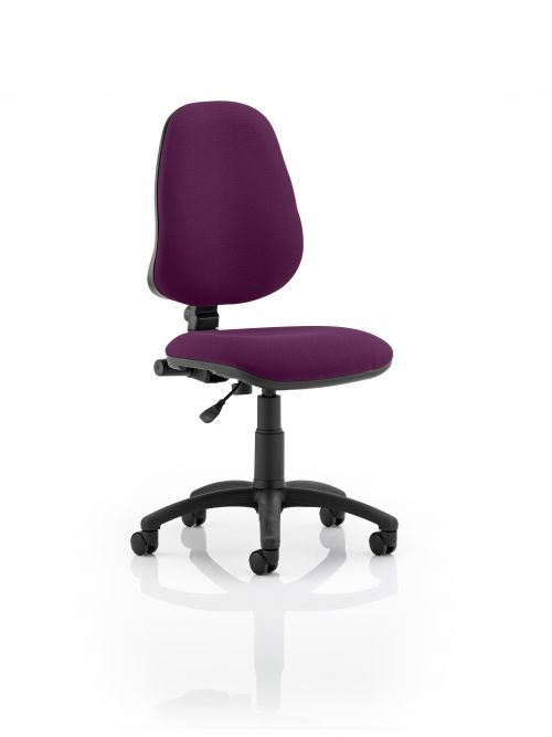 Eclipse I Lever Task Operator Chair Bespoke Colour Purple  | County Office Supplies