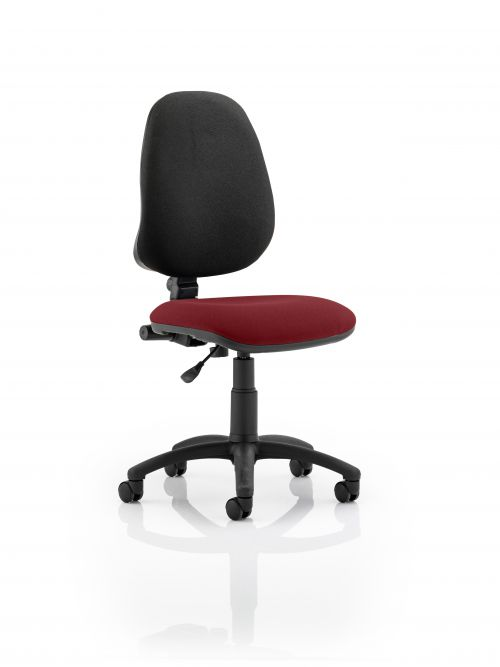 Eclipse I Lever Task Operator Chair Bespoke Colour Seat Ginseng Chilli