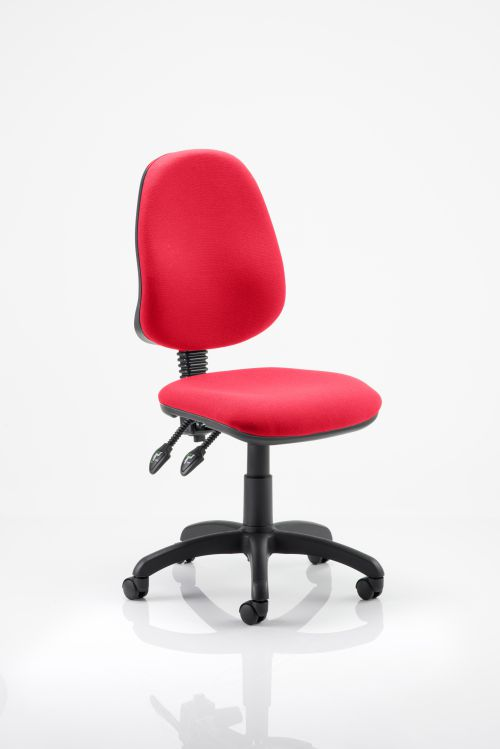 Eclipse II Lever Task Operator Chair Bespoke Colour Post Box Red