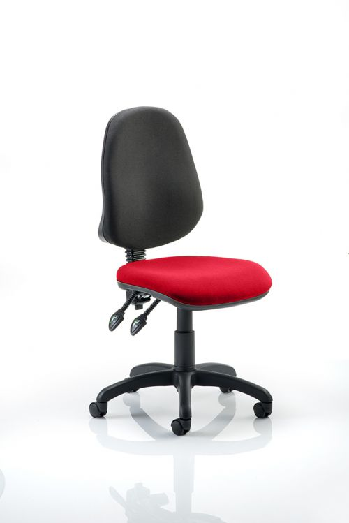 Eclipse II Lever Task Operator Chair Bespoke Colour Seat Post Box Red