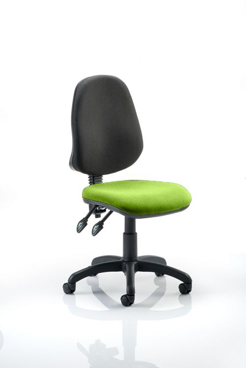 Eclipse II Lever Task Operator Chair Bespoke Colour Seat Lime