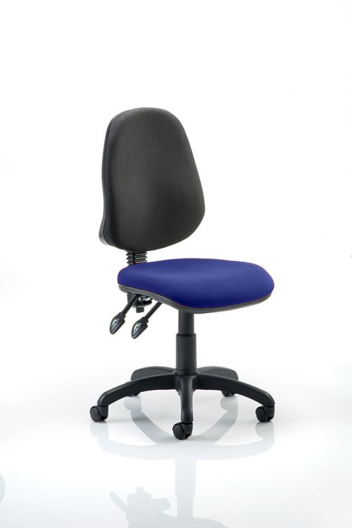 Eclipse II Lever Task Operator Chair Bespoke Colour Seat Admiral Blue