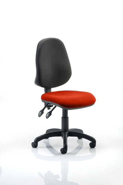 Eclipse II Lever Task Operator Chair Bespoke Colour Seat Orange
