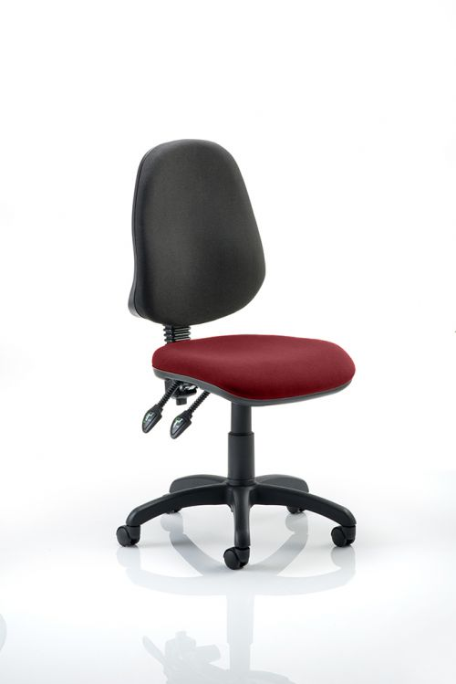 Eclipse II Lever Task Operator Chair Bespoke Colour Seat Ginseng Chilli