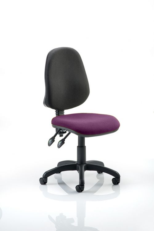 Eclipse II Lever Task Operator Chair Bespoke Colour Seat Purple