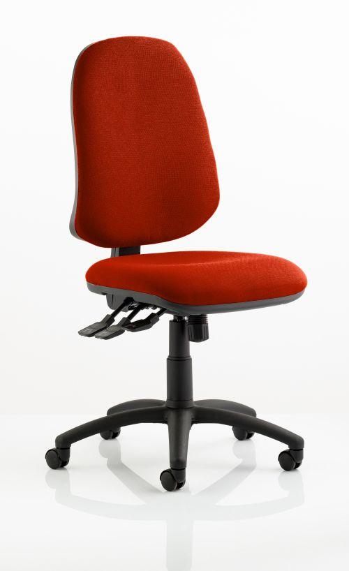 Eclipse XL Lever Task Operator Chair Bespoke Colour Orange