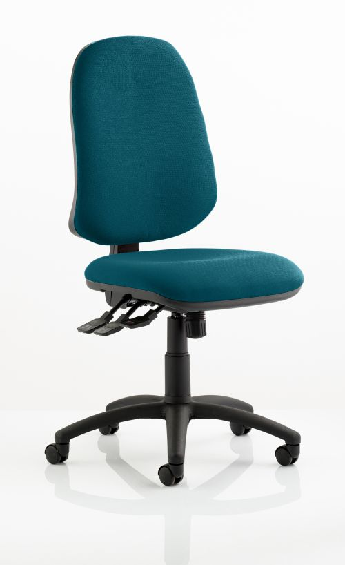 Eclipse XL Lever Task Operator Chair Bespoke Colour Teal