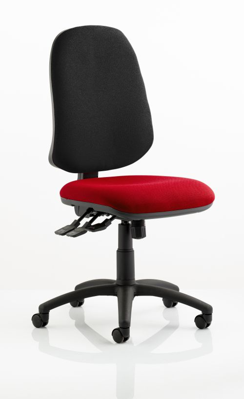 Eclipse XL Lever Task Operator Chair Bespoke Colour Seat Post Box Red