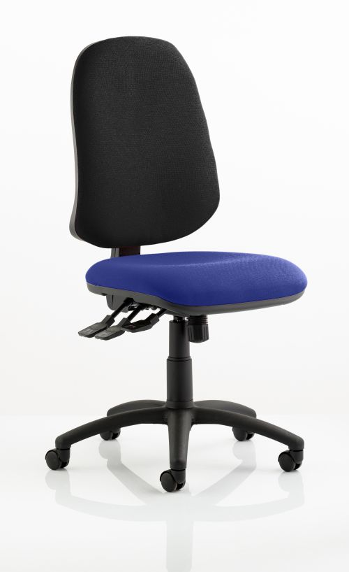 Eclipse XL Lever Task Operator Chair Bespoke Colour Seat Admiral Blue