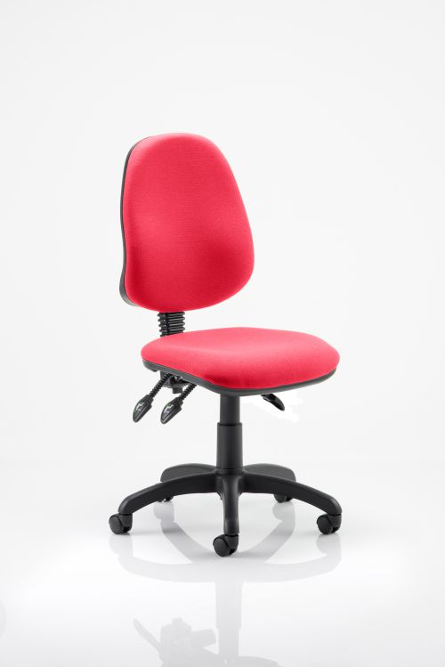Eclipse III Lever Task Operator Chair Bespoke Colour Post Box Red