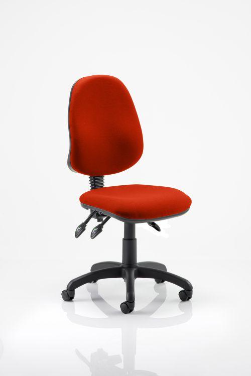Eclipse III Lever Task Operator Chair Bespoke Colour Orange