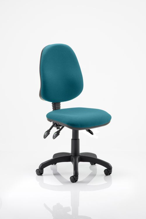 Eclipse III Lever Task Operator Chair Bespoke Colour Teal