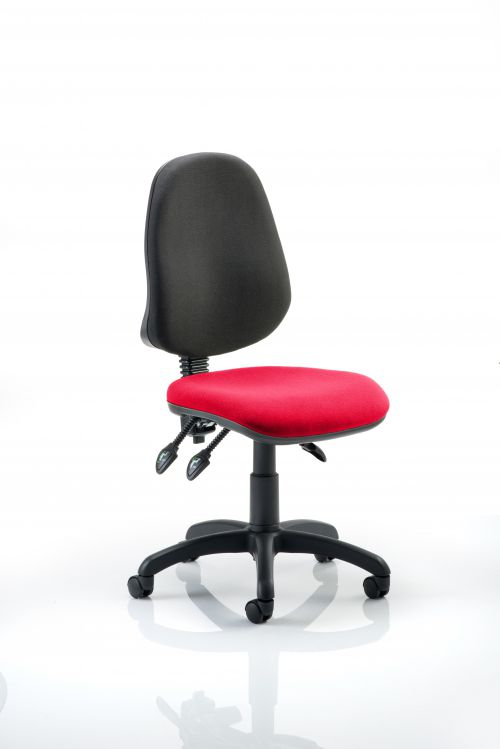 Eclipse III Lever Task Operator Chair Bespoke Colour Seat Post Box Red