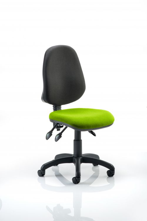 Eclipse III Lever Task Operator Chair Bespoke Colour Seat Lime