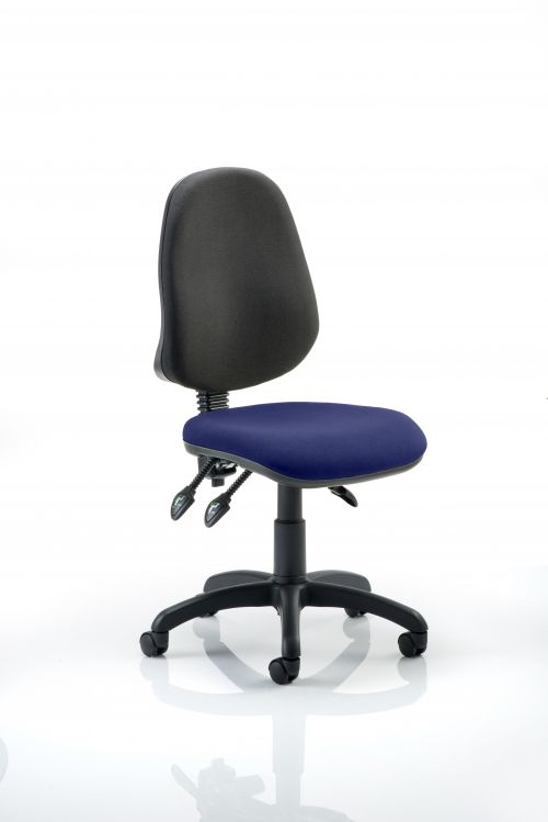 Eclipse III Lever Task Operator Chair Bespoke Colour Seat Admiral Blue
