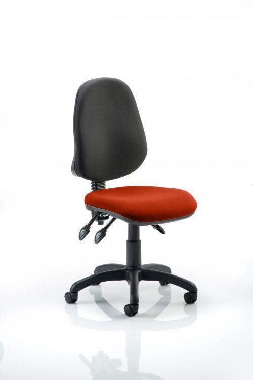 Eclipse III Lever Task Operator Chair Bespoke Colour Seat Orange