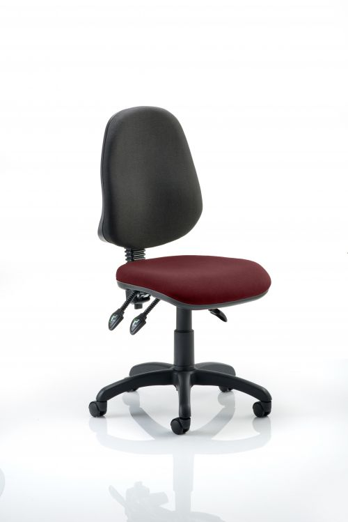 Eclipse III Lever Task Operator Chair Bespoke Colour Seat Ginseng Chilli
