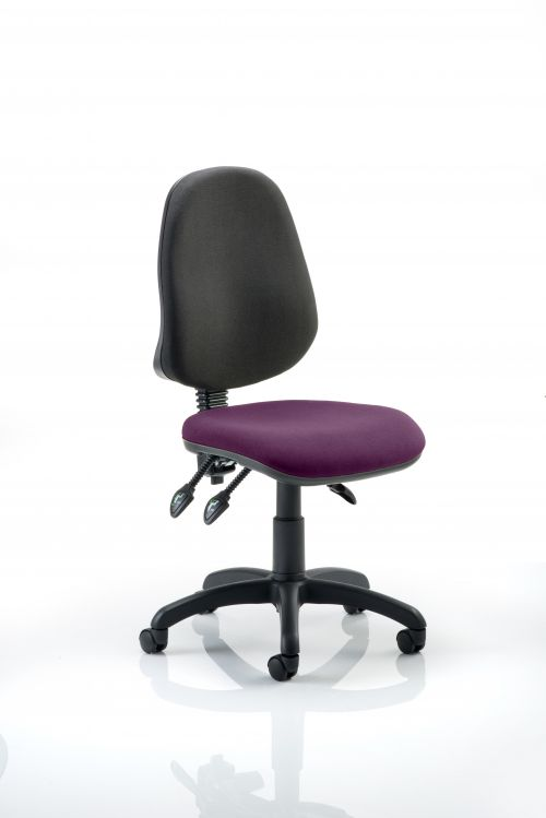 Eclipse III Lever Task Operator Chair Bespoke Colour Seat Purple