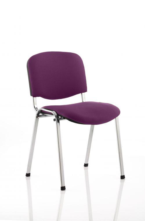 ISO Chrome Frame Bespoke Colour Fabric - (Min Order Qty X 4) Purple