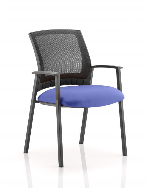 Metro Visitor Chair Bespoke Colour Seat Admiral Blue