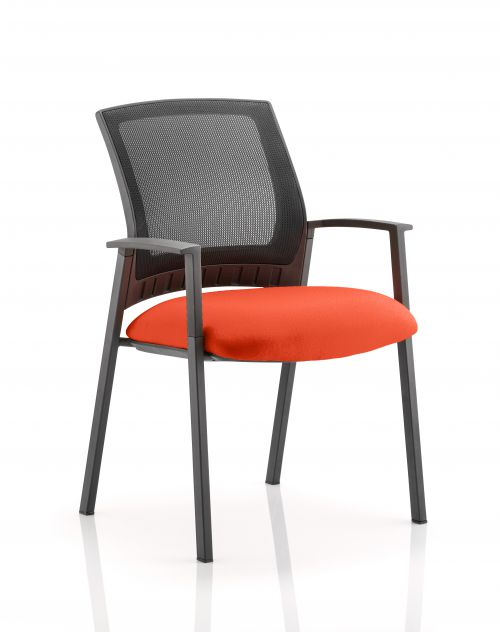 Metro Visitor Chair Bespoke Colour Seat Orange