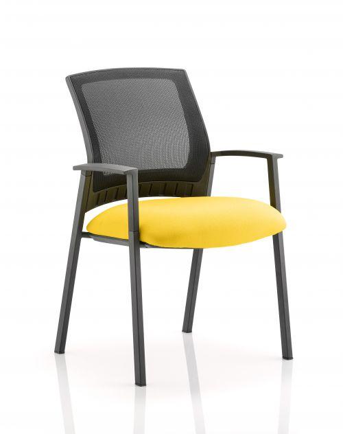 Metro Visitor Chair Bespoke Colour Seat Yellow