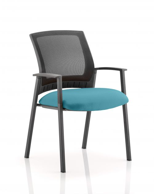 Metro Visitor Chair Bespoke Colour Seat Teal