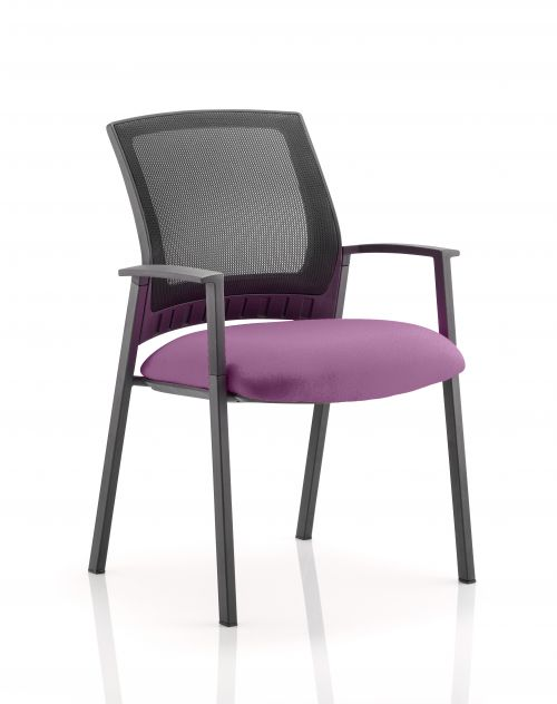 Metro Visitor Chair Bespoke Colour Seat Purple