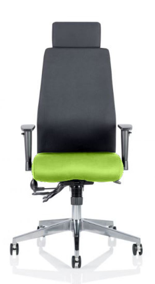Onyx Bespoke Colour Seat With Headrest Lime