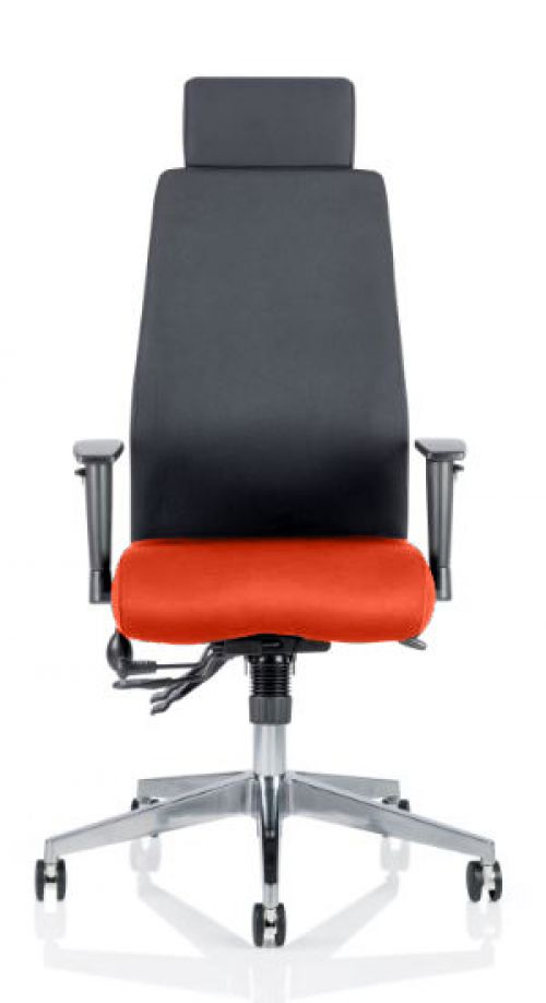 Onyx Bespoke Colour Seat With Headrest Orange