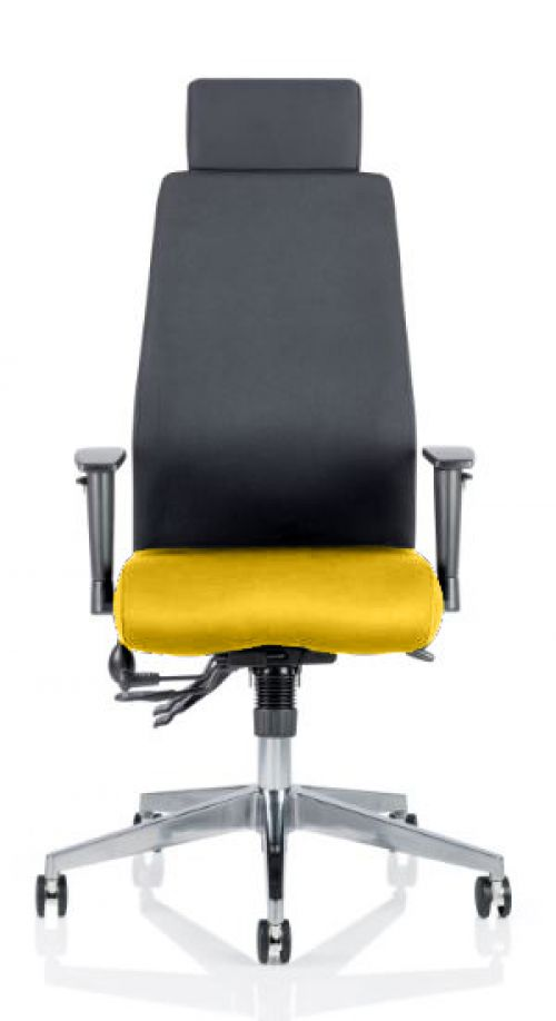 Onyx Bespoke Colour Seat With Headrest Yellow