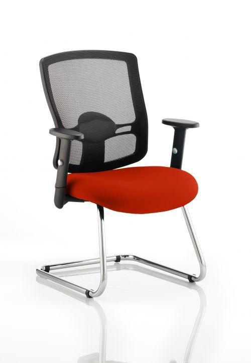 Portland Cantilever Bespoke Colour Seat Orange