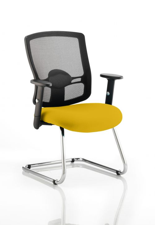 Portland Cantilever Bespoke Colour Seat Yellow