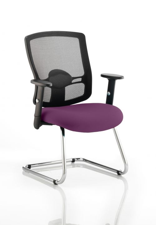 Portland Cantilever Bespoke Colour Seat Purple