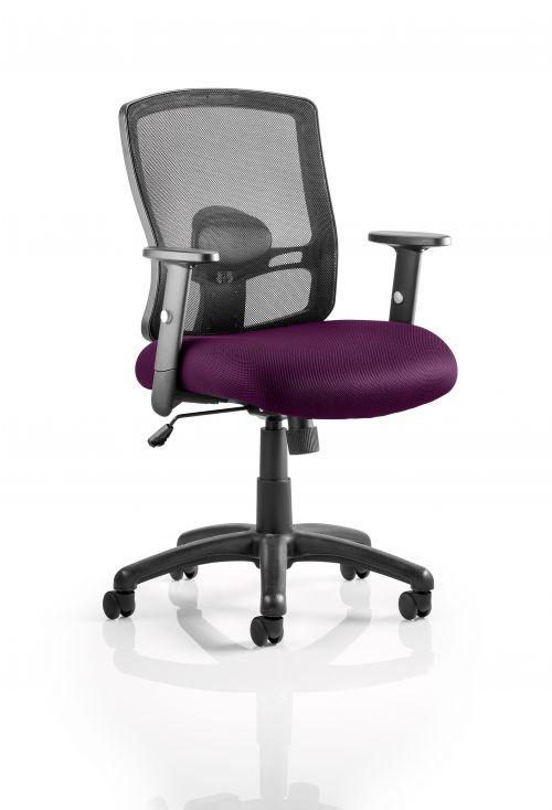 Portland Task Operator Bespoke Colour Seat Purple